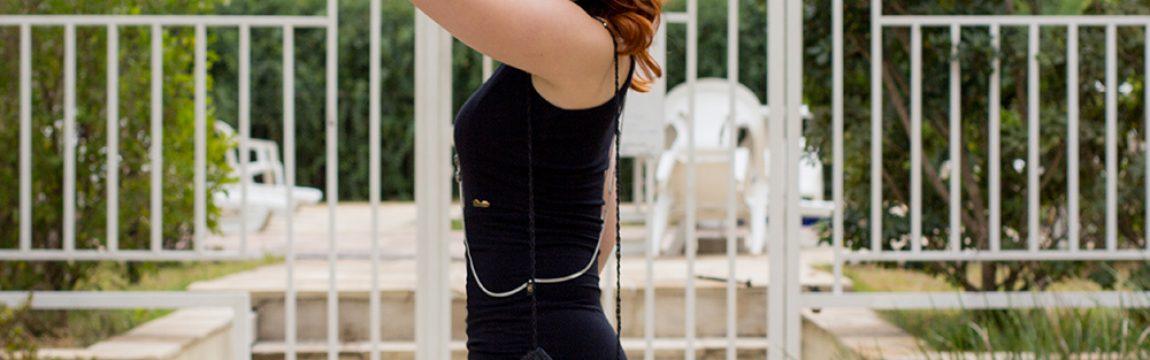 #SPFW – Vestido Preto Assimétrico