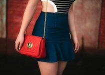 #OOTD Navy: Body Listrado e Saia Jeans